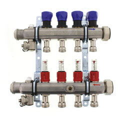 4-Loop ProRadiant Manifold w/ Balancing Valves & Flow Meters Product Image
