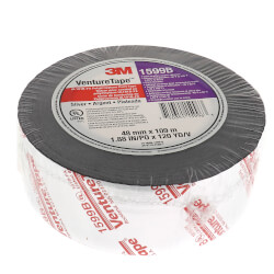 "UL181B-FX Printed Flexible Duct Closure Tape - Silver (2"" x 360') Product Image"