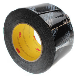 "UL181B-FX Printed Flexible Duct Closure Tape - Black (3"" x 360') Product Image"