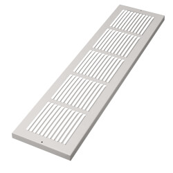 "30"" x 8"" White Baseboard Return Air Grille <br>(674 Series) Product Image"