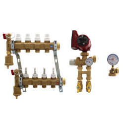 Inverted Fixed Point Manifold Mixing Station w/ UPS15-58FC Pump (4 Outlets) Product Image