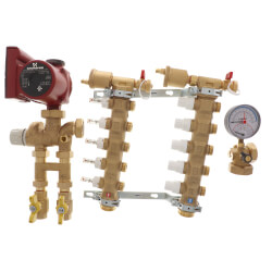 Fixed Point Manifold Mixing Station w/ UPS15-58FC Pump (5 Outlets) Product Image
