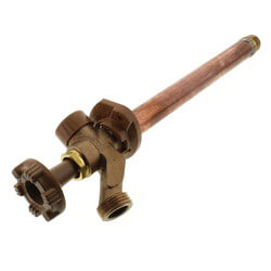 """Model 17 8"""", 1/2"""" MPT x 1/2"""" F Sweat Inlet Anti-Siphon Wall Faucet w/ Metal Handle Product Image"""