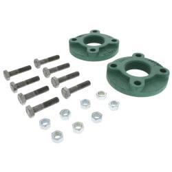 """2"""" C.I 4-bolt threaded Flange 1400-60/-65/-70 & 2400-60/-65/-70 Product Image"""