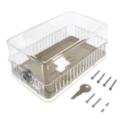 Rectangular Transparent Thermostat Guard Kit Product Image