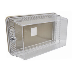 Rectangular Plastic Thermostat Guard Kit w/ solid and ring base Product Image