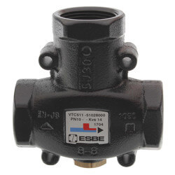 "ESBE Series 1-1/4"" 3-Way Thermic Valve (Body Only) Product Image"