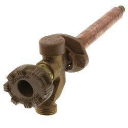 """Model 19 6"""" Length, 1/2"""" Expansion PEX Inlet Anti-Siphon Wall Faucet w/ Metal Handle Product Image"""