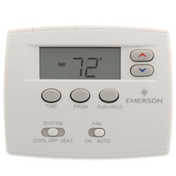 5+1+1 Day Programmable Blue Thermostat<br>1/1 Single Stage Product Image