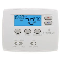 5+1+1 Day Programmable Blue Thermostat, 2/1HP Product Image