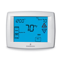 Programmable 4H/2C<br>Blue Digital Touchscreen Humidity Thermostat Product Image