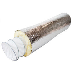 "4"" x 25 Ft. Fab 6-M Fabriflex Acoustical Duct, R4.2 (Insulated) Product Image"
