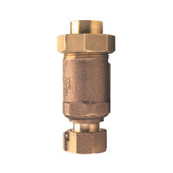 "1"" x 3/4"" Wilkins 700XL Dual Check Valve, Union Female Meter x Union Female (Lead Free) Product Image"