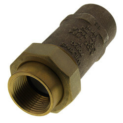 "1"" x 1"" Wilkins 700XL Dual Check Valve, Union FNPT x FNPT (Lead Free) Product Image"