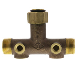 """1"""" x 3"""" Center to End, No Lead Brass Female Union Tank Tee Product Image"""