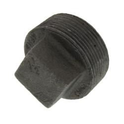 """1-1/2"""" Black Solid Plug Product Image"""
