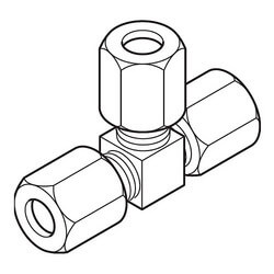 "1/4"" Restrictor Tee<br>for Copper Tubing Product Image"
