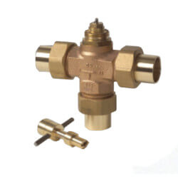 "Three Way Diverting Valve 3/4"" Copper (Female) Product Image"