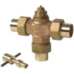 """Three Way Diverting Valve 1"""" Copper (Female) Product Image"""
