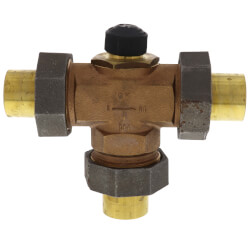 "Three Way Diverting Valve 1-1/4"" Copper (Female) Product Image"
