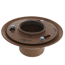 "4"" Cast Iron No-Hub Floor Drain Body (Assembly Only) Product Image"