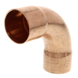 "1-5/8"" OD ACR Copper 90° Long Turn Elbow Product Image"