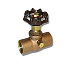 "1/2"" Stop & Waste Valve (Lead Free, IPS) Product Image"