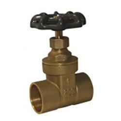 "4"" Sweat Brass Gate Valve Product Image"