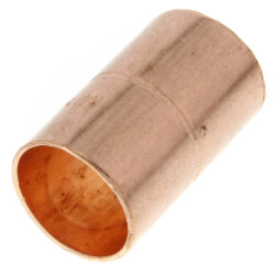 "3/4"" OD ACR Copper Coupling w/ Roll Stop Product Image"