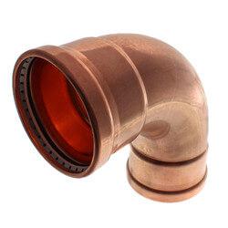 "4"" Propress XL-C Copper 90 Elbow Product Image"