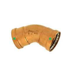 "4"" Propress XL-C Copper 45 Elbow Product Image"
