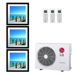 20,000 BTU 21.7 SEER Ductless Three Zone Heat Pump Package (9+9+12) Product Image