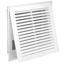 "14"" x 14"" (Wall Opening Size) White Steel Fixed-Bar Filter Grille (96AFB Series) Product Image"