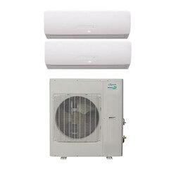 21,000 BTU InverterFlex Dual Zone Heat Pump Package (9+12) Product Image