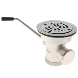 "3-1/2"" Twist Waste Drain With 1-1/4"" Overflow Outlet (Cap Included) Product Image"