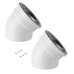 45° Non-Condensing Vent Pipe Elbows (2 Pack) Product Image