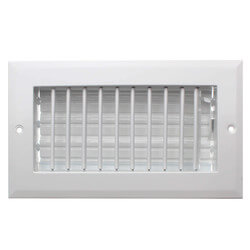 "8"" x 4"" (Wall Opening Size) White Sidewall/Ceiling Register (A618MS Series) Product Image"