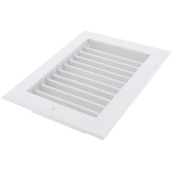 "8"" x 6"" (Wall Opening Size) White Sidewall/Ceiling Register (A618MS Series) Product Image"