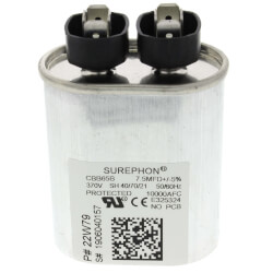 7.5 MFD Oval Capacitor (370V) Product Image