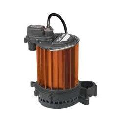 1/3 HP Man. Aluminum Submersible Sump Pump 115v - 10' Cord Product Image