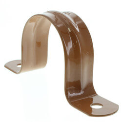 """1-1/2"""" 2 Carbon Steel Hole Strap (Copper Epoxy Coated) Product Image"""