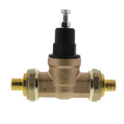 "3/4"" EB45 Double Union PEX Crimp Pressure Regulating Valve, 45 PSI (Lead Free) Product Image"