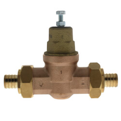 "1"" EB45 Double Union PEX Crimp Pressure Regulating Valve, 45 PSI (Lead Free) Product Image"