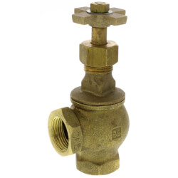 "3/4"" Threaded Brass Angle Globe Valve (Lead Free) Product Image"