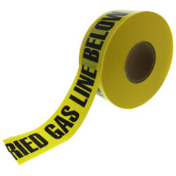 """Caution Buried Gas Line Below"" Non-Detctable Tape, Yellow (3"" x 1000 Ft) Product Image"
