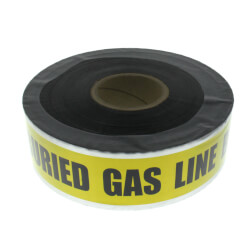 """Caution Buried Gas Line Below"" Detectable Burial Tape, Yellow (3"" x 1000 Ft) Product Image"