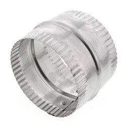 "4"" Aluminum Connector for Rigid, Semi-rigid, and Flexible Duct Product Image"