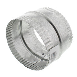 "4"" Galvanized Connector for Rigid, Semi-rigid, and Flexible Duct Product Image"