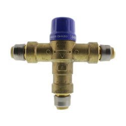 "HG-110D 1/2"" Thermostatic Mixing Valve w/ SharkBite Connections Product Image"