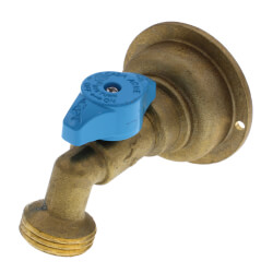 "3/4"" Push-Fit x 3/4"" MHT 90° Hose Bibb – Quarter-Turn (Lead Free) Product Image"